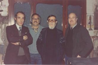 Raúl e Ismael Yagüe con el escritor Paco Candel