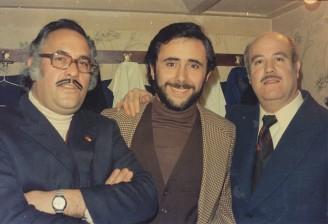 Con Andrés Caparrós, padre, 1977