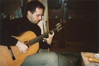 David Leiva, pedagogo y concertista flamenco, 2000
