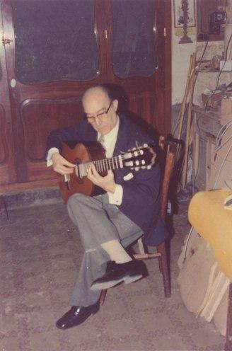 Eduardo Sáinz de la Maza en el taller