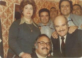 Ismale, Raúl y Ana Yagüe con los hermanos Escobar, años 70
