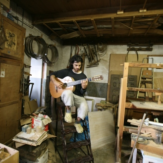 Elias Bonet en el taller