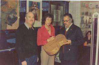 Con el peluquero Pascual Iranzo
