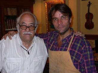Con el luthier David Bagué, 2011
