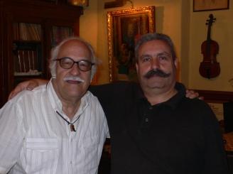 Con el luthier Josep Melo, 2011